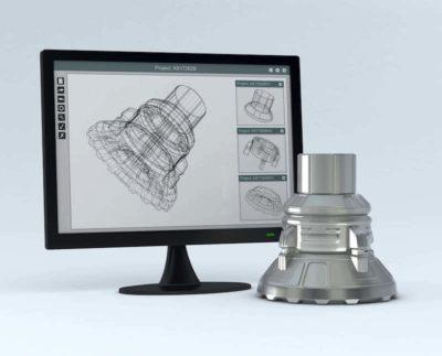 Konstruktionszeichnung auf einem Desktop