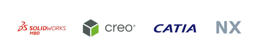 Logos von beliebten CAD-Programmen